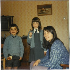 Kath with daughter Karen and son Peter c 1972