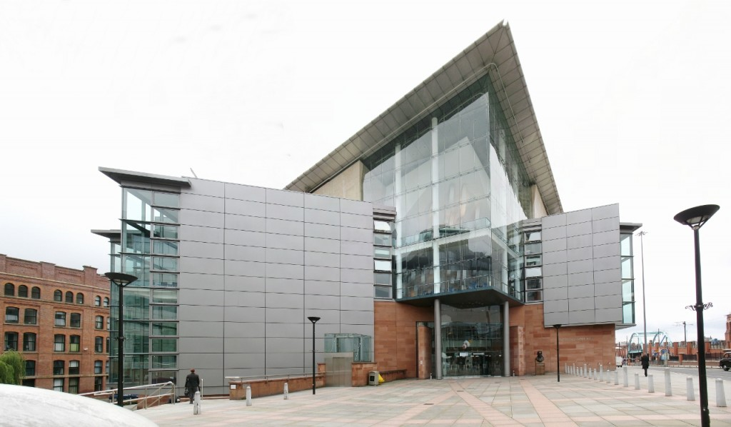 Outside view of Bridgewater Hall