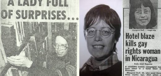 newspaper pictures and head shot of Margaret Roff from http://manchester1984.uk